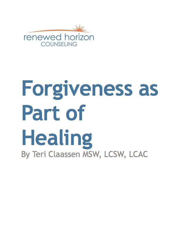 Forgiveness as Part of Healing