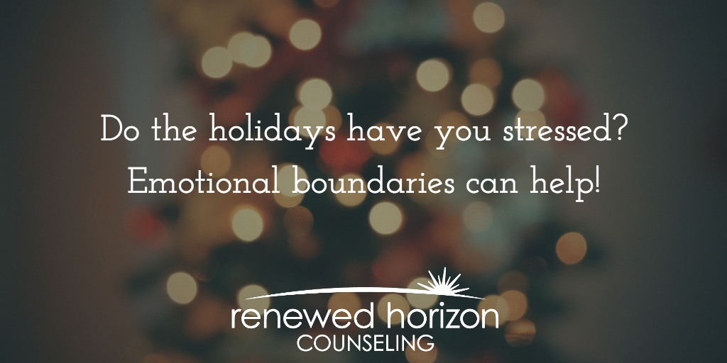 Emotional Boundaries For the Holidays