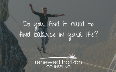 Create healthy balance in your life