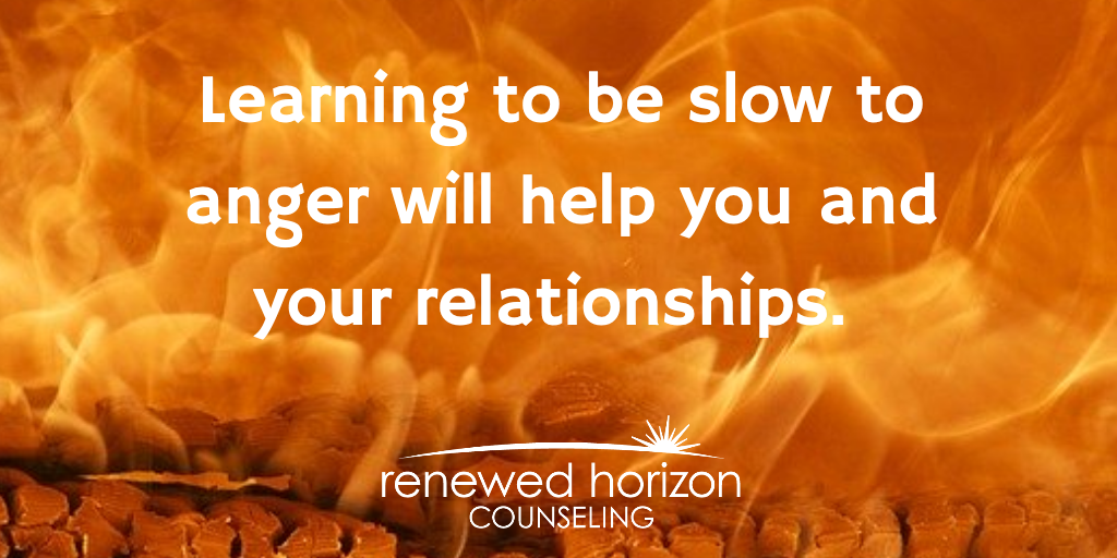 3 steps to help you be slow to anger