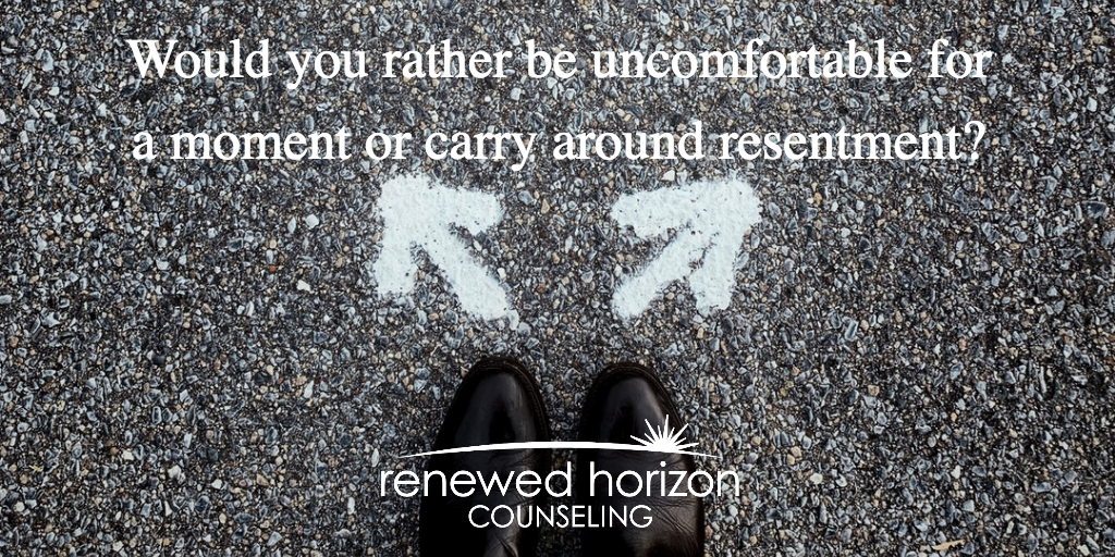 Discomfort over resentment