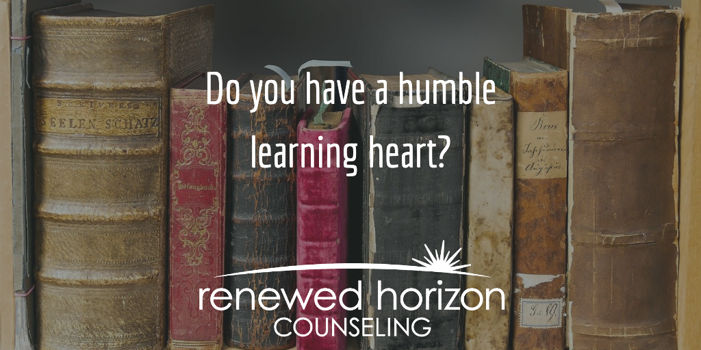 A humble attitude of learning
