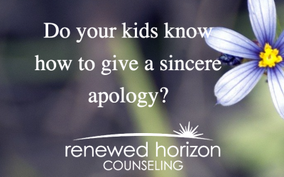 Teaching your kids to apologize sincerely
